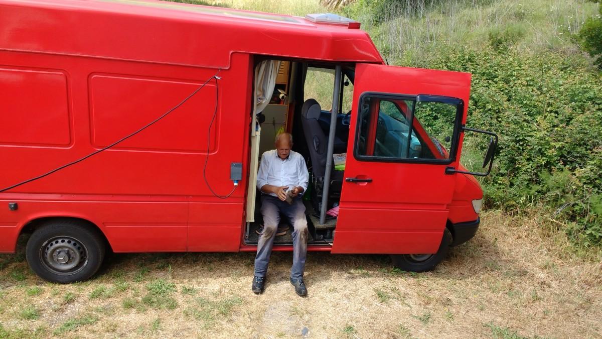 my-brother-in-the-door-of-his-Red-Van