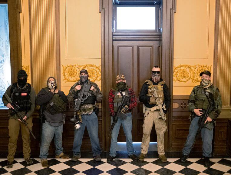masked-gunmen-at-the-senate-of-Michigan