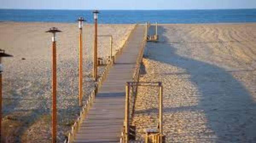 het strand in Figueira da Foz, Portugal