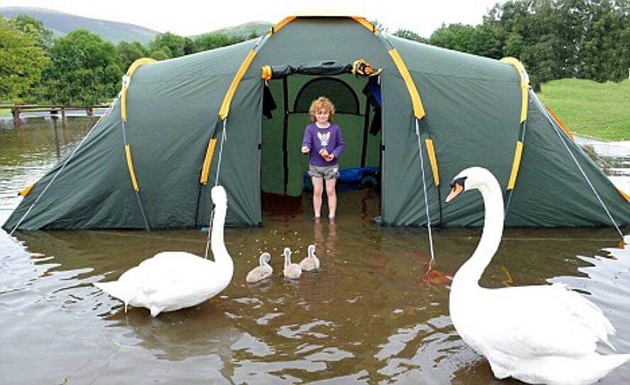 kamperen in Nederland in de regen - zomer 2020