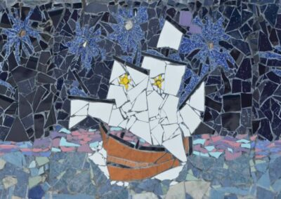 mosaic-detail-a-ship-sails-in-the-middle-of-the-ocean-in-Termas-da-Azenha-1