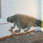 mozaiek-van-een-leguaan-in-Termas-da-Azenha