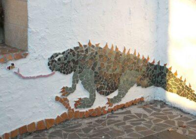 mosaic-of-a-lizzard-Termas-da-Azenha