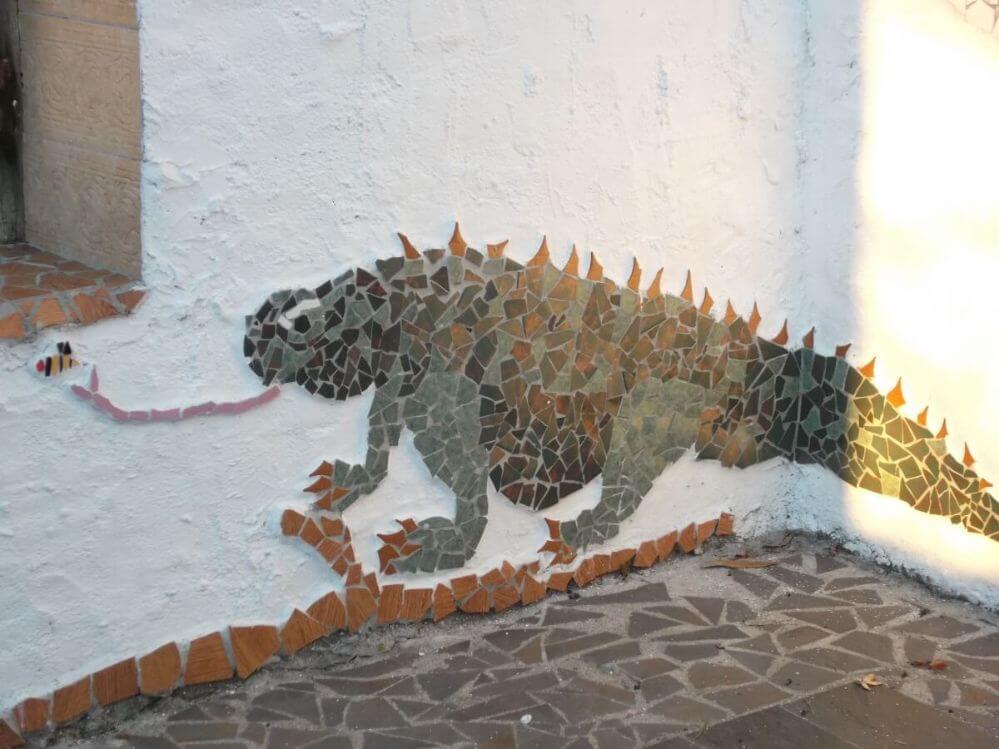 mosaico-de-um-lagarto-Termas-da-Azenha