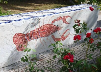 mosaic-of-a-crayfish