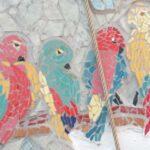 mozaiek-van-papagaaien-in-Termas-da-Azenha