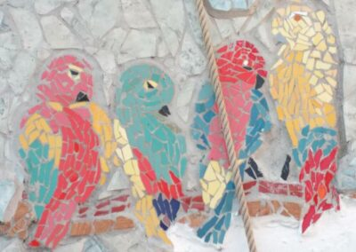 mosaic-of-parrots-Termas-da-Azenha